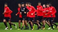Laufen für den Ernstfall: Am Samstag können die Eintracht-Profis endlich zeigen, was sie den Sommer über gemacht haben.
