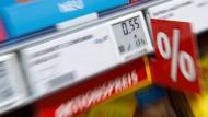 Nahrungsmittel verteuerten sich im August um 0,9 Prozent, im Juli waren es noch 1,1.