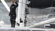 Adieu: An Bord des Schiffs ist auch Greta Thunbergs Vater Svante Thunberg sowie ein Kameramann.