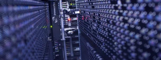Ein automatisches Lager für Magnet-Datenbänder