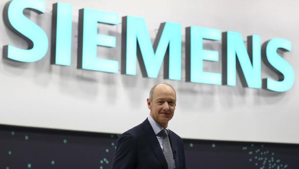 Neuer Siemens-Chef startet mit Rückenwind