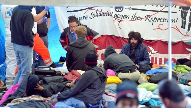 Durst- und Hungerstreik von Asylbewerbern in München