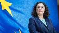 Arbeitet demnächst in Brüssel: Andrea Nahles
