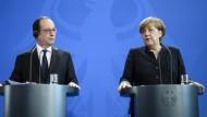 Merkel und Hollande pochen auf Zusammenhalt der EU
