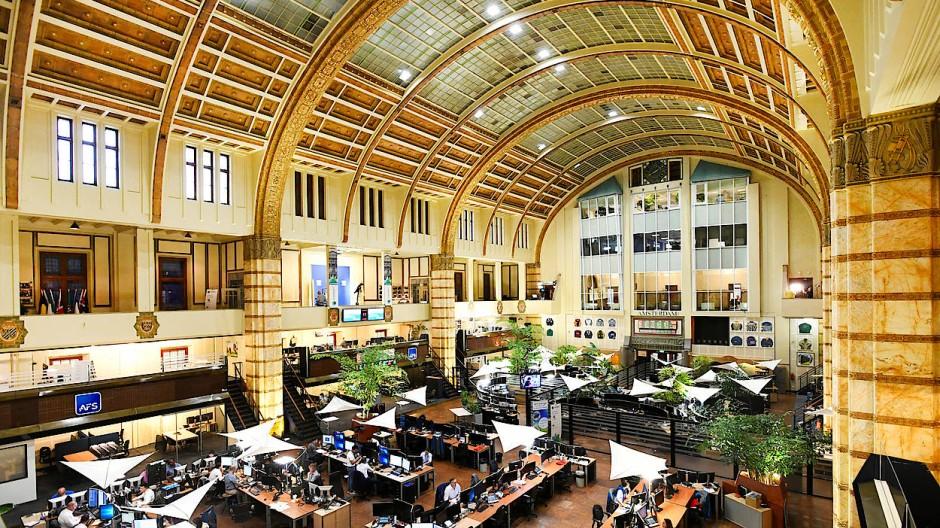 Schön anzusehen: die Börse in Amsterdam