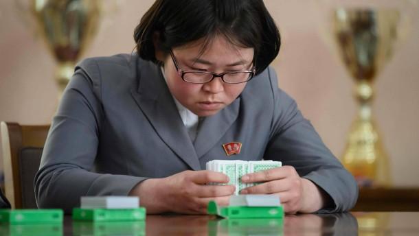 Wo den Nordkoreanerinnen niemand das Wasser reichen kann