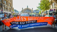 Demonstration am 20. September 2020 in Frankfurt für eine offene Migrationspolitik
