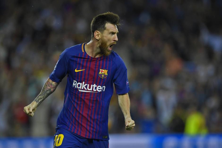 Messi macht's: Auch er startet mit dem FC Barcelona gut in die neue Champions-League-Saison.