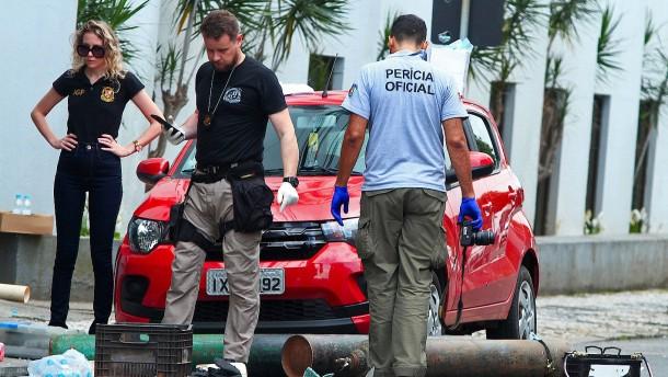Heftiger Bankraub in Brasilien