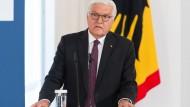 """Warnt vor den """"Viren des Demokratiefeindlichen"""": Bundespräsident Steinmeier im Forum Bellevue"""