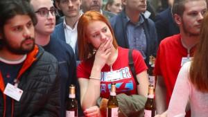 Große Verluste für Union und SPD