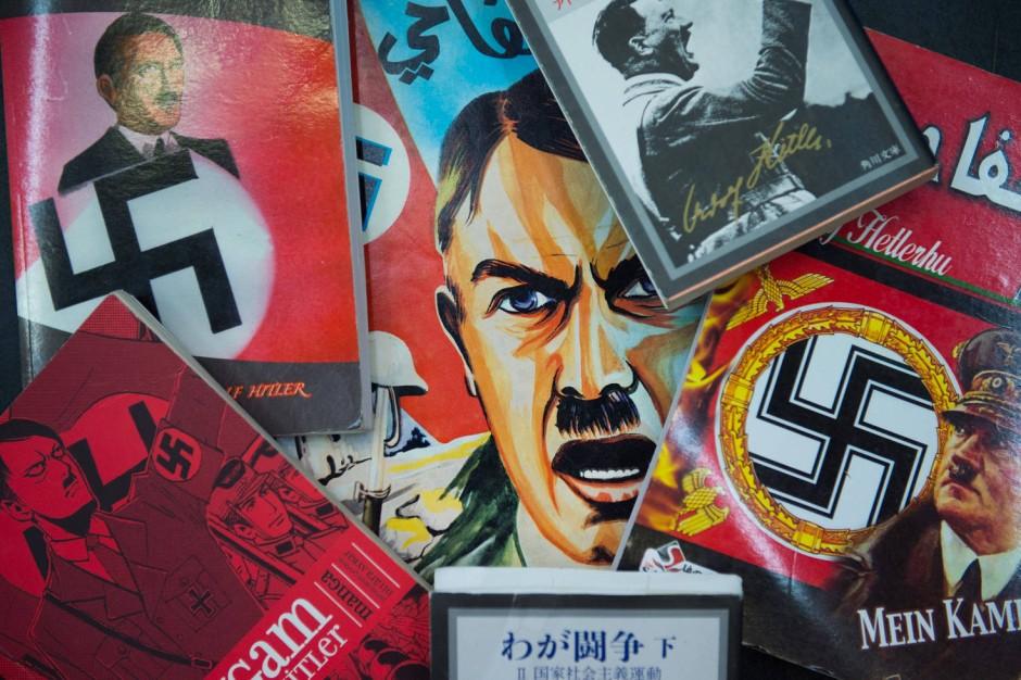 """Verschiedensprachige Ausgaben des Buches """"Mein Kampf"""""""