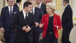 EU stellt Ukraine weitere Unterstützung in Aussicht