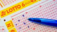 Glücksache: Diese Zahlen waren es zwar nicht, aber ein junger Frankfurtat 29 Millionen Euro im Lotto gewonnen