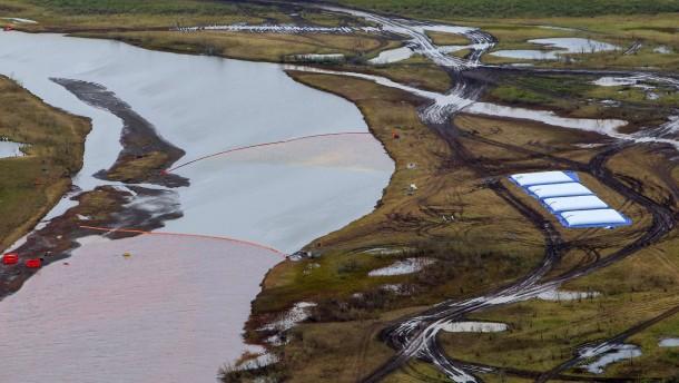 Der Pjassinosee war schon vorher tot