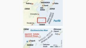 Infografik / Karte / Ostchinesisches Meer / Inseln Senkaku bzw Diaoyu