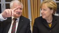 Heizt die Auseinandersetzung in der Union wieder an: der CSU-Vorsitzende Horst Seehofer, hier am 6. Januar während der CSU-Klausurtagung in Wildbad Kreuth mit Kanzlerin Angela Merkel