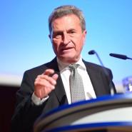 Günther Oettinger verabschiedet sich aus Europa.