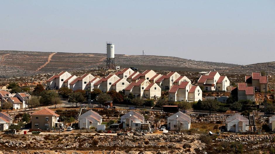 Israelische Siedlung Shvut Rachel in der Nähe von Ramallah