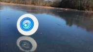 Die Eislaufkünste einer Frisbee-Scheibe