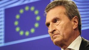 Oettinger: Deutsche Minister sollten aus Brüssel arbeiten
