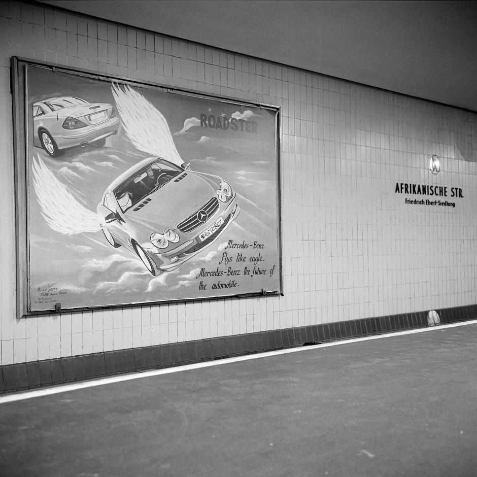 """U-Bahn-Station Afrikanische Straße, Berlin. Aus der Serie """"African Quarter"""", 2011."""