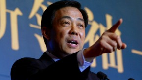 File photo of Bo Xilai, then Governor of Liaoning Province, speaking in Beijing