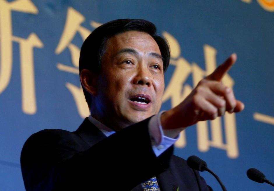 Der inzwischen aus der Partei ausgeschlossene Bo Xilai