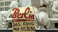 Plakat vom Berliner Studentenstreik von 2015