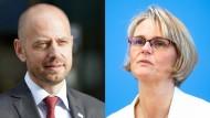 Siemens-Energy-Chef Christian Bruch und Forschungsministerin Anja Karliczek
