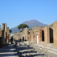 In den Ruinen von Pompeji