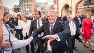 Bundespräsident Joachim Gauck beim Bürgerfest 25 Jahre Deutsche Einheit in 2015
