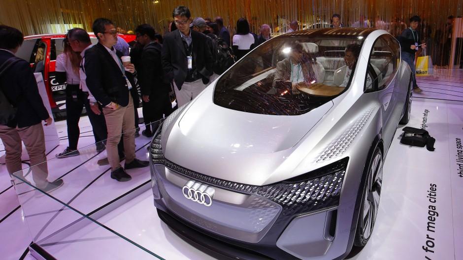 Autonomer Audi: Der Audi AI:ME ist eine Designstudie, die erstmals 2019 in Schanghai vorgestellt wurde und 2020 in Las Vegas zu sehen war.