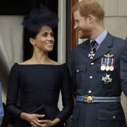 Bild aus besseren Zeiten: Queen Elizabeth sowie Meghan und Harry im Juli 2018 auf dem Balkon des Buckingham-Palasts.