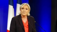 Ernüchtert: Die unterlegene Marine Le Pen nach der Stichwahl um das französische Präsidentenamt
