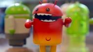 Android-Maskottchen im Berliner Google-Büro.