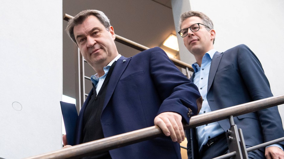 Markus Söder und Markus Blume vergangenen Dezember in der CSU-Parteizentrale in München