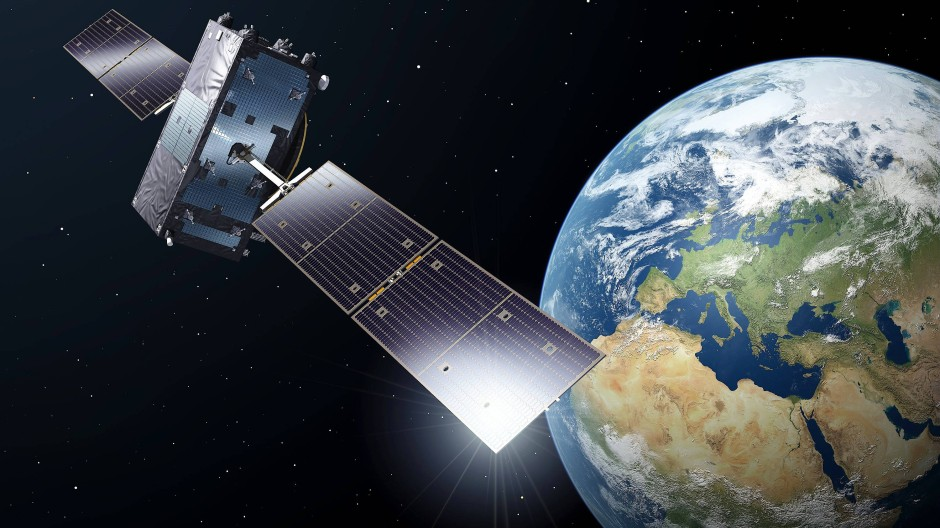 Undatierte Illustration eines Galileo-Full-Operational-Capacity-Satelliten (FOC)