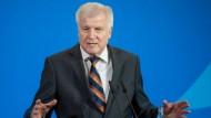 Innenminister Horst Seehofer (CSU) am Freitag auf einer Pressekonferenz.