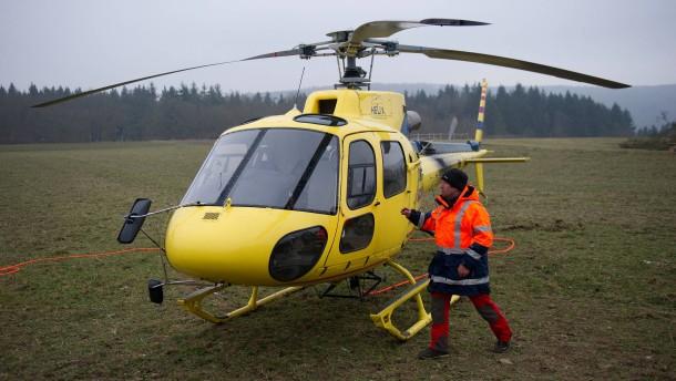 Hubschrauber-Einsatz für eine Pfingstnelke