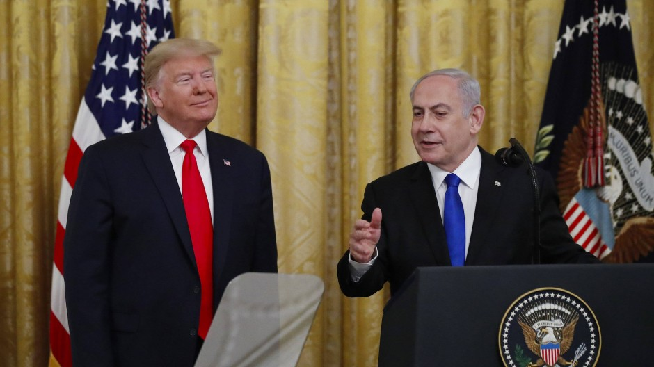 """Trump spricht von einer historischen Friedensvereinbarung"""", Netanjahu würdigt einen historischen Tag: Unser Bild zeigt die beiden Regierungschefs Amerikas und Israels bei ihrem Treffen im Januar 2020."""