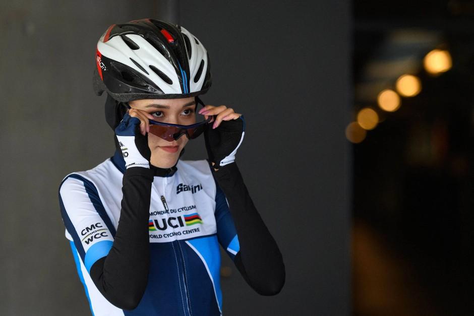 Die afghanische Radrennfahrerin Masomah Ali Zada: Sie tritt für das internationale Flüchtlingsteam bei Olympia an.