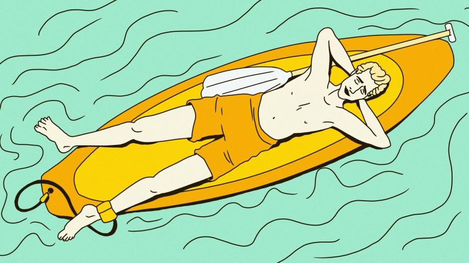 Ausspannen statt Wellenreiten: Auch ein ereignisloser Tag am Meer kann ein guter Tag sein.