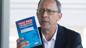 AfD in Sachsen schließt Koalition mit CDU derzeit aus