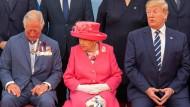 Gute Laune: Queen Elizabeth II. mit Prince Charles und dem amerikanischen Präsidenten Donald Trump
