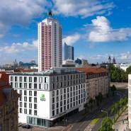 Das Wintergartenhochhaus in Leipzig, vermietet wird es durch die Leipziger Wohnungs- und Baugesellschaft mbH (LWB).