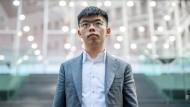Joshua Wong bei der Bundespressekonferenz in Berlin