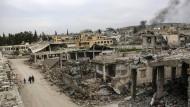 Ruinenlandschaft: Kobane während der Kämpfe vor drei Jahren