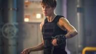 """Kennt die Filmreihe erst seit kurzem: Davis, 32, als """"Grace"""" in """"Terminator 6""""."""