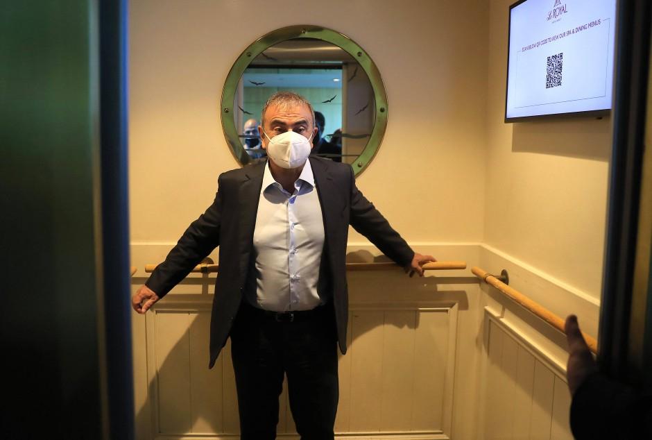Carlos Ghosn in Beirut auf dem Weg zu einem Interview im Mai diesen Jahres